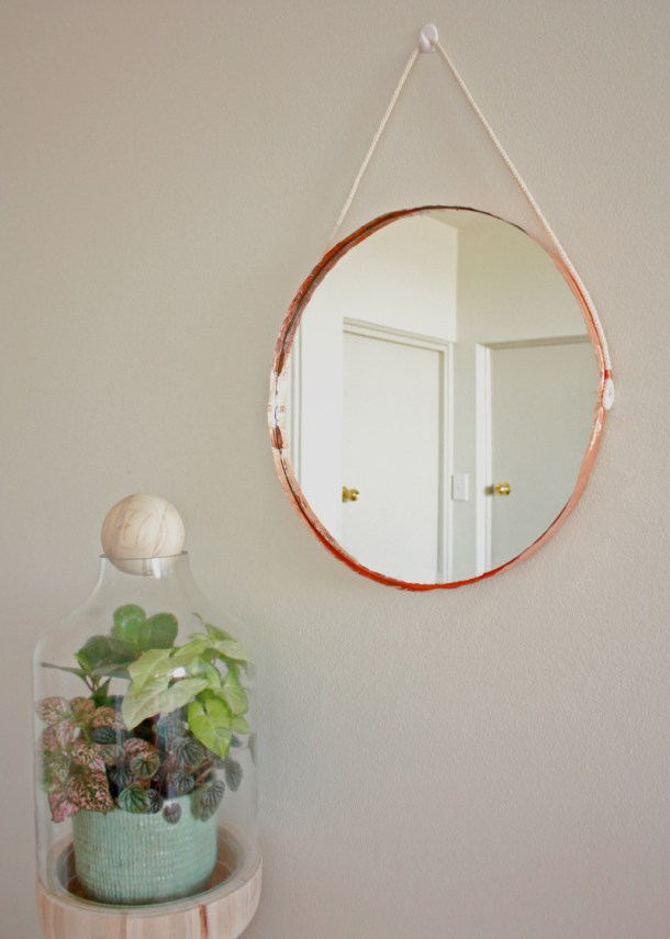 DIY Copper Edged Mirror | The Makers Society