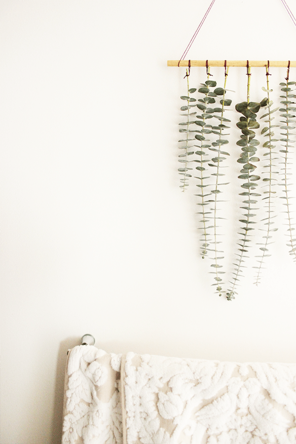 DIY Hanging Eucalyptus | Oh the Sweet Things