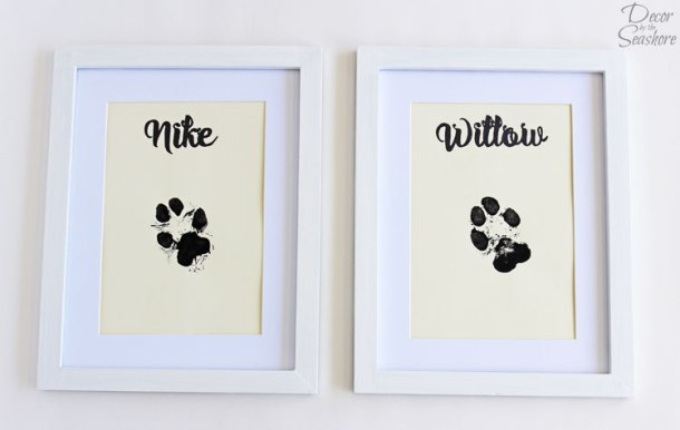 DIY Paw Print Wall Art | Decor by the Sea Shore
