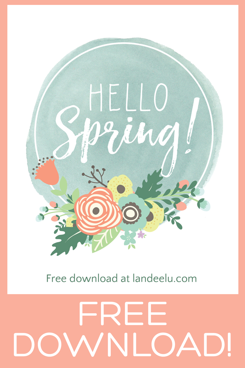 This is a darling free spring printable! I'm printing this and putting it in my entry! #springprintable #springprint #freeprintable #easterprint