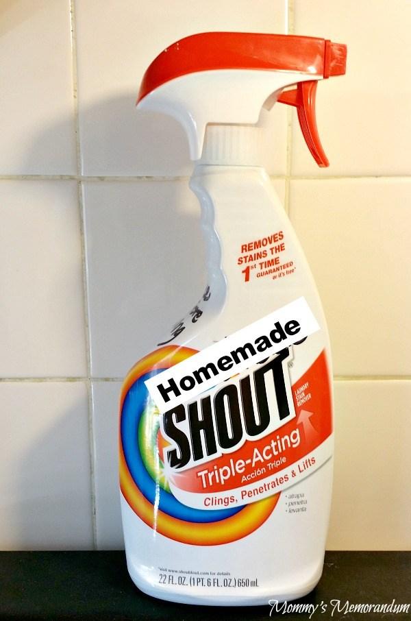 Homemade Shout | Mommy's Memorandum