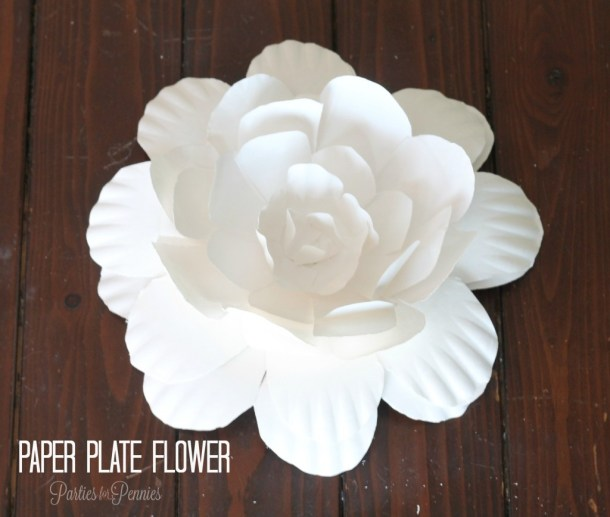 Paper Plate Flowers | Parties for Pennies