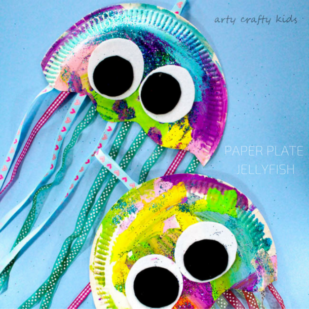 Paper Plate Jellyfish | Arty Crafty Kids