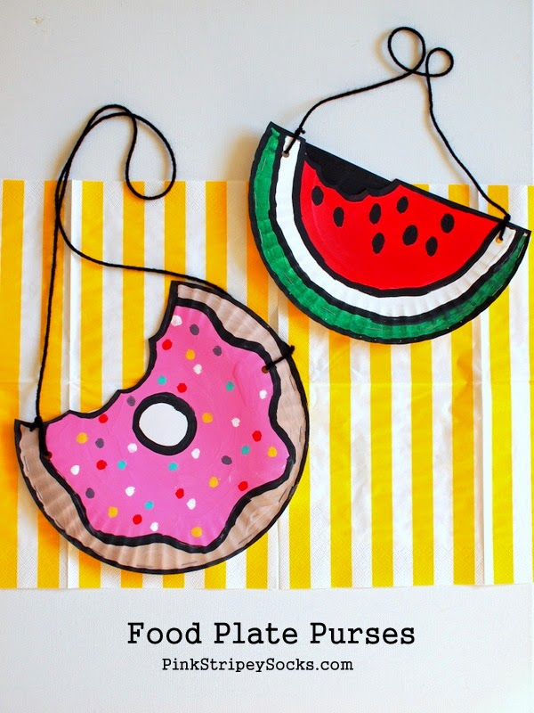 Paper Plate Summer Crafts | Pink Stripey Socks