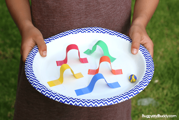 STEM Paper Plate Marble Mazes | Buggy and Buddy