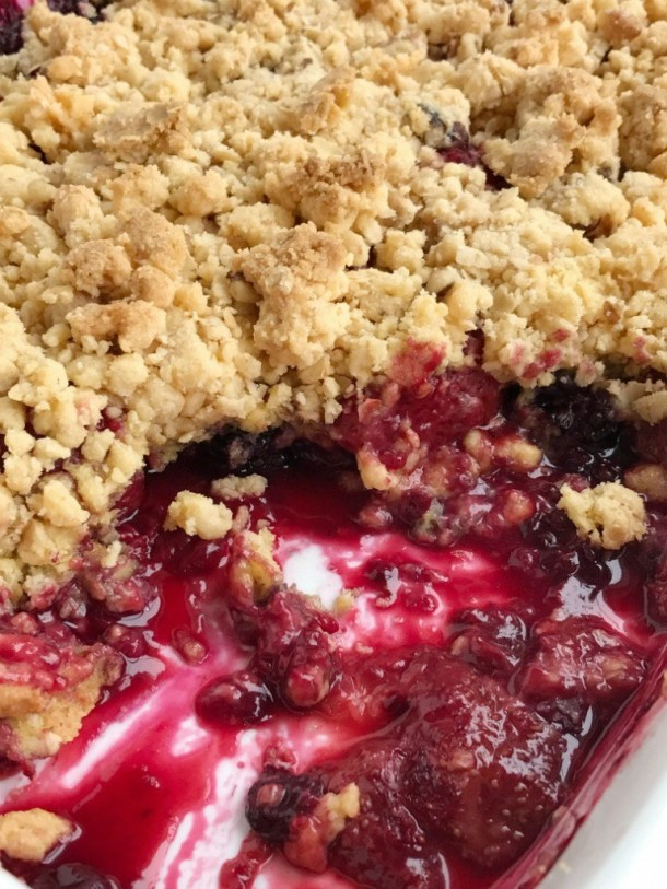 Berry Crisp Dump Cake | Together as Family