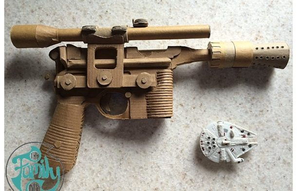 Cardboard Han Solo DL 44 Blaster | The Family DIY