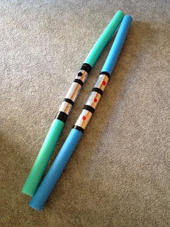 DIY Foam Noodle Light Sabers | The Nerdy Girlie