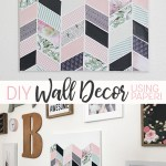 Easy DIY wall decor made using decorative papers, mod podge and a blank canvas! So fun to create and totally custom for any space!