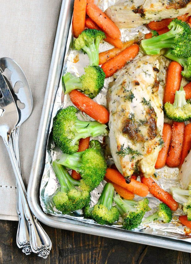 Dill Chicken Sheet Pan Dinner | The Weary Chef