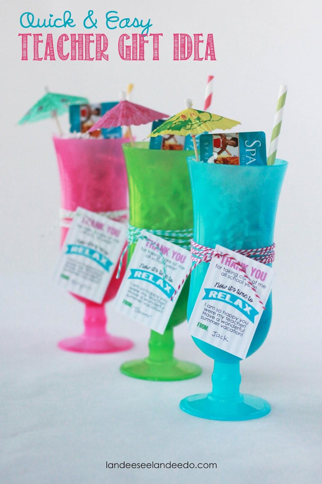 Teacher Gift Idea: Time to Relax - landeelu com