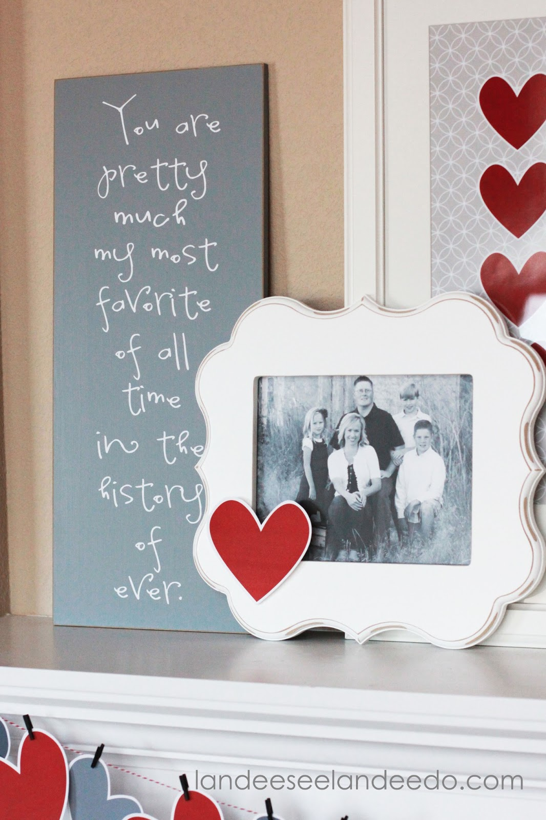 And Love My Frame From Orange Blossom Shop! I Just Taped On One Of My Extra  Hearts To Tie It All In.