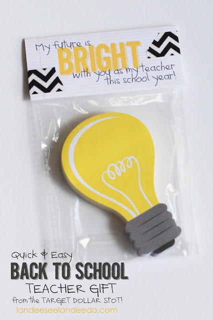 "Back to School Teacher Gift Idea Free Printables | Landeelu ""My future is BRIGHT with you as my teacher this school year!"""