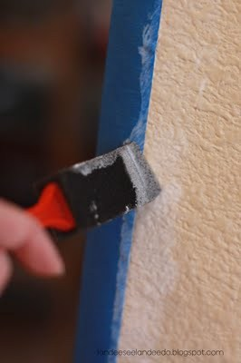 How to Paint the PERFECT Stripe | landeelu.com  Two tried and true methods to get that perfect, clean stripe every time!