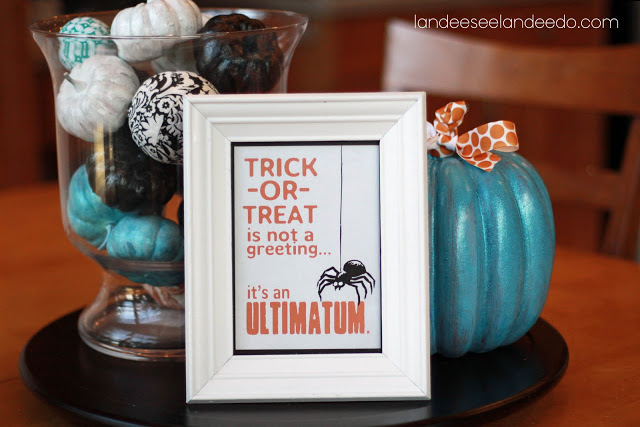 """Trick or Treat is not a greeting...it's an ultimatum.""  Fun Halloween Free Printable 