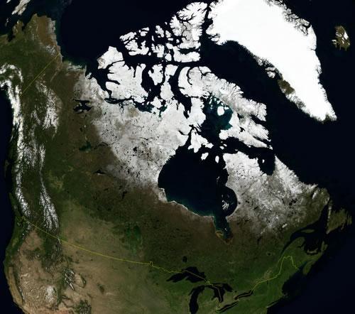 Canada Satellietfoto