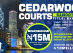 Cedarwood Courts Estate Land Measuring 600sqm, Sangotedo