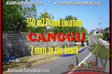 FOR SALE 550 m2 LAND IN Canggu Batu Bolong BALI TJCG159