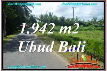 Exotic PROPERTY 1,942 m2 LAND SALE IN UBUD BALI TJUB626