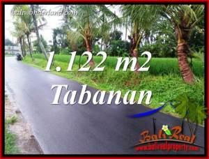 Exotic Tabanan Bali 1,122 m2 Land for sale TJTB404