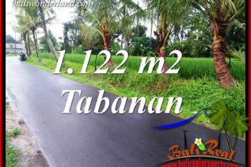 Exotic Tabanan Bali 1,122 m2 Land for sale TJTB404