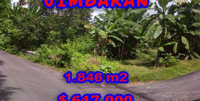 Property for sale in Jimbaran Bali, Terrific land for sale in Jimbaran Ungasan  – 1.846 m2 @ $ 350