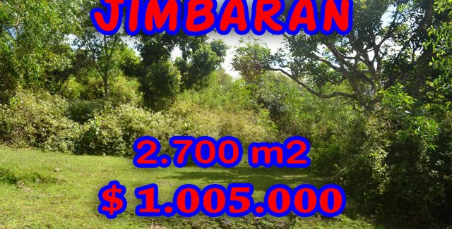 Interesting Property for sale in Bali Indonesia, land for sale in Jimbaran Bali  – 2.700 m2 @ $ 372