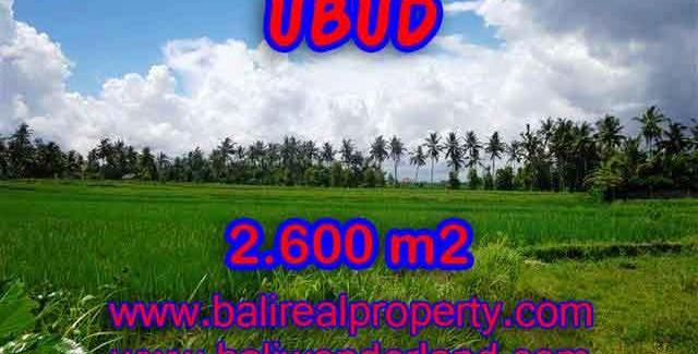 Fantastic Land for sale in Bali, exotic mountain and rice fields view in Ubud Center– TJUB374