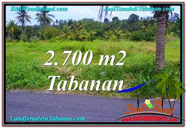 Magnificent 2,700 m2 LAND SALE IN Tabanan Kerambitan BALI TJTB301