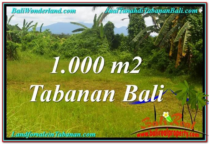 Exotic PROPERTY 1,000 m2 LAND SALE IN TABANAN TJTB311
