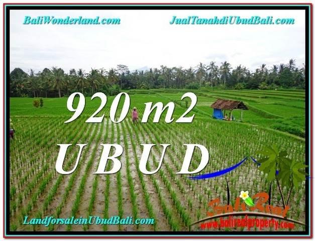 Affordable PROPERTY 920 m2 LAND FOR SALE IN Ubud Payangan TJUB575