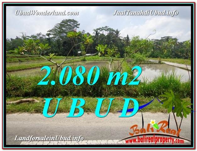 Beautiful UBUD BALI 2,080 m2 LAND FOR SALE TJUB582