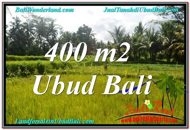 Exotic PROPERTY 400 m2 LAND IN Ubud Pejeng FOR SALE TJUB627