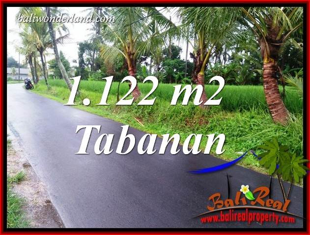 Magnificent 1,122 m2 Land sale in Tabanan Bali TJTB404