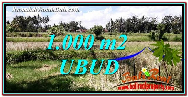 Exotic PROPERTY UBUD BALI LAND FOR SALE TJUB760