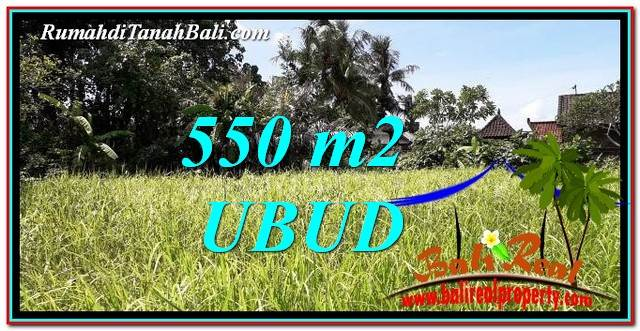 Exotic 550 m2 LAND FOR SALE IN Sentral Ubud TJUB766