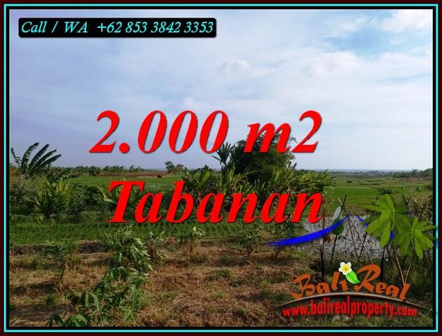 2,000 m2 LAND FOR SALE IN KERAMBITAN TABANAN BALI TJTB492