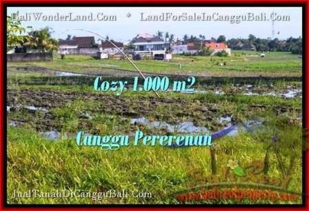 Magnificent 1,000 m2 LAND IN CANGGU FOR SALE TJCG177