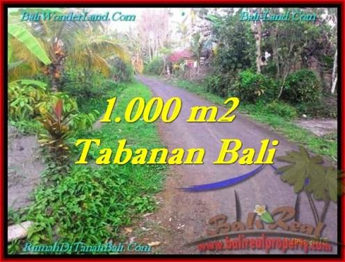 1,000 m2 LAND FOR SALE IN TABANAN BALI TJTB242