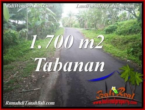 Beautiful PROPERTY 1,700 m2 LAND SALE IN TABANAN BALI TJTB385