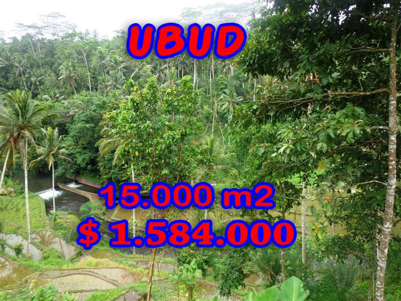 Land for sale in Bali, Beautiful view in Ubud Bali – 15,000 sqm @ $ 106