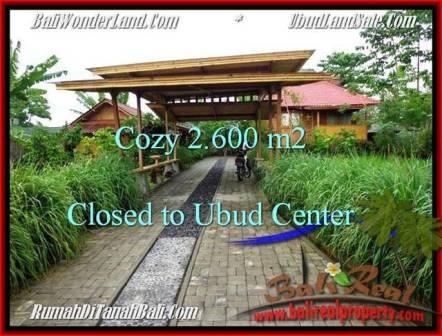 Beautiful PROPERTY 2,600 m2 LAND SALE IN UBUD BALI TJUB491