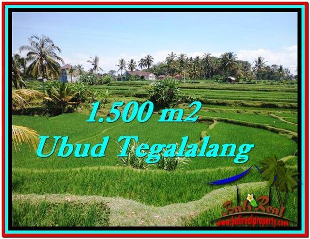 FOR SALE Magnificent PROPERTY 1,500 m2 LAND IN UBUD BALI TJUB528