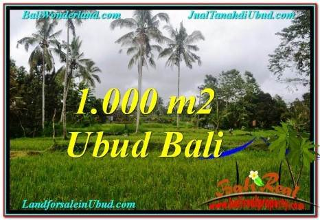 FOR SALE Magnificent 1,000 m2 LAND IN UBUD TJUB570