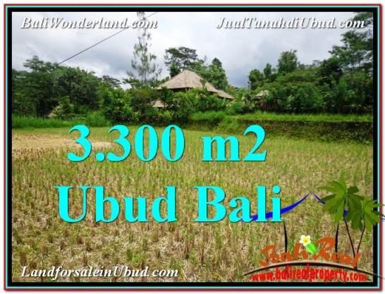 Magnificent 3,300 m2 LAND IN UBUD BALI FOR SALE TJUB562