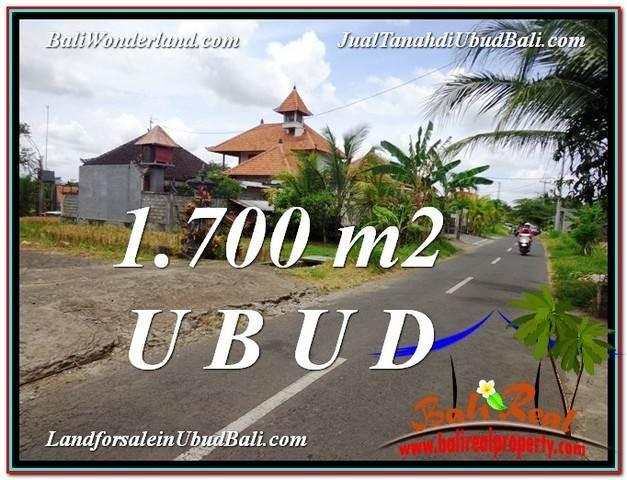Magnificent PROPERTY 1,700 m2 LAND FOR SALE IN Sentral Ubud TJUB588