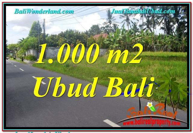 Affordable PROPERTY 1,000 m2 LAND FOR SALE IN Sentral / Ubud Center TJUB649