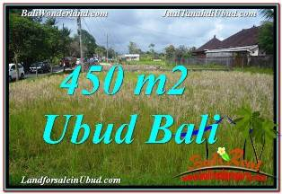 UBUD BALI 450 m2 LAND FOR SALE TJUB671