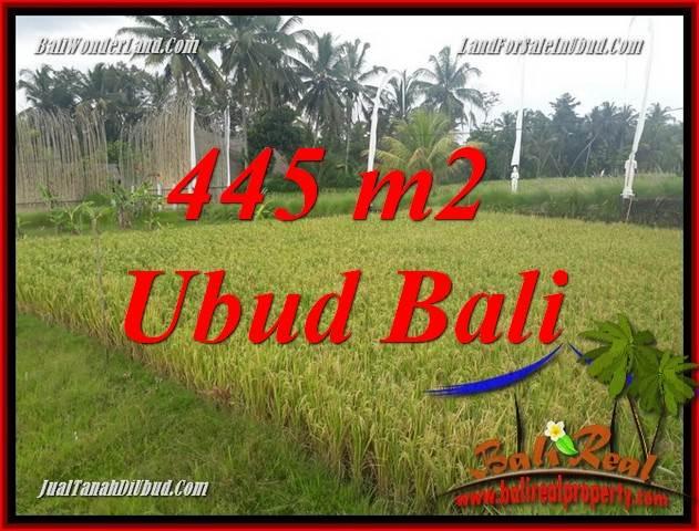 Beautiful Property 445 m2 Land in Ubud Pejeng Bali for sale TJUB695