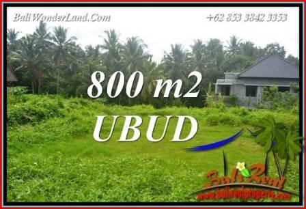 Magnificent 800 m2 Land sale in Ubud Bali TJUB706